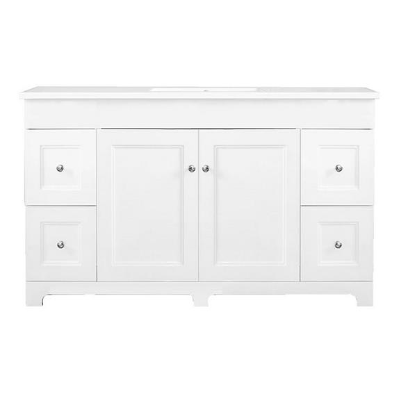 Luxo Marbre Classic Bathroom Vanity - 49-in - Lacquered White