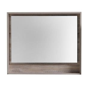 Luxo Marbre Country Mirror with LED Light - 35.5-in x 29.5-in - Wood