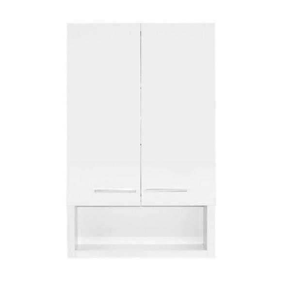 Luxo Marbre 2-Door Bathroom Cabinet - 22-in x 35.5-in - Lacquered White