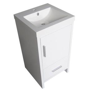 Luxo Marbre Smally Bathroom Vanity - 18-in - Lacquered White