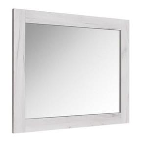 Luxo Marbre Bold Bathroom Mirror - 35.5-in x 29.5-in - Old White