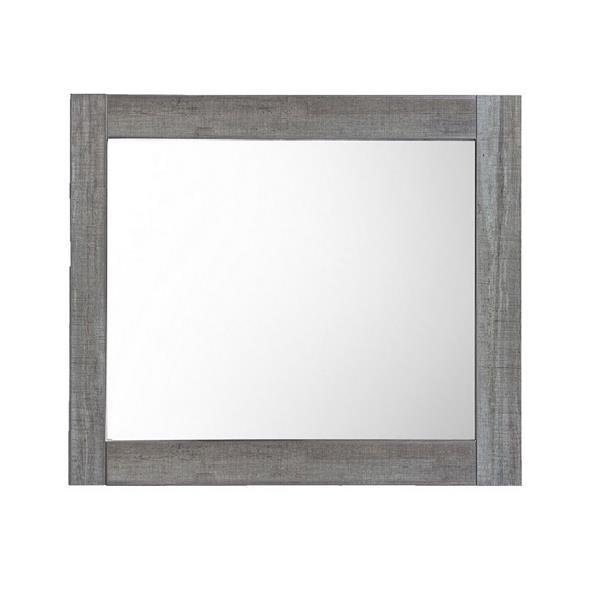 Luxo Marbre Relax Bathroom Mirror - 30-in x 29.5-in - Blue/Grey