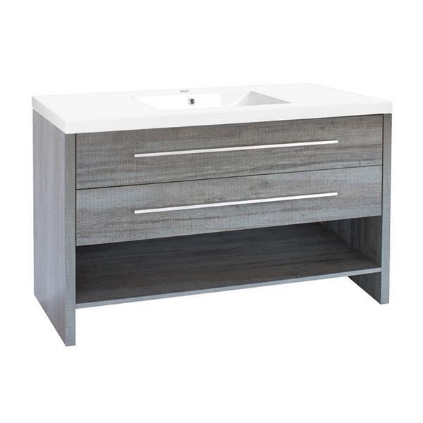Luxo Marbre Relax Bathroom Vanity - 48.25-in - Blue Gray