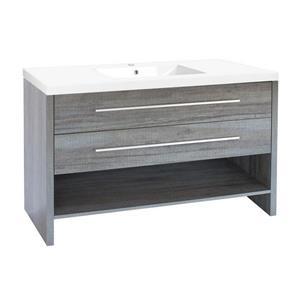 """Meuble-lavabo «Relax», 48,25"""", bleu gris"""
