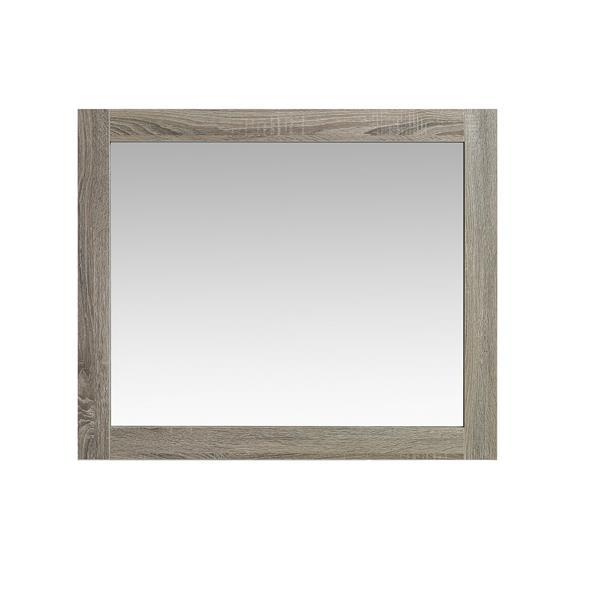 Luxo Marbre Eco Bathroom Mirror - 35.5-in x 29.5-in - Brown