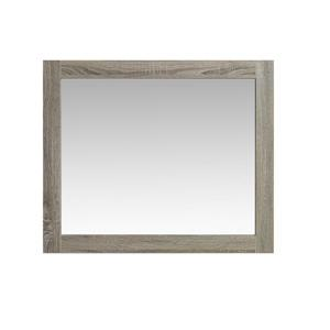 Luxo Marbre Eco Bathroom Mirror - 35.5-in x 29.5-in - Brown