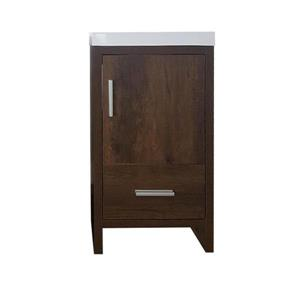 Luxo Marbre Relax Bathroom Vanity - 18-in - Coffee