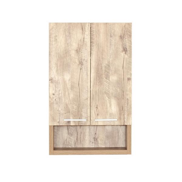Luxo Marbre 2-Door Bathroom Cabinet - 22-in x 35.5-in - Natural Wood
