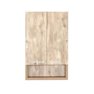 Luxo Marbre 2-Door Bathroom Cabinet - 22-in x 35.5-in - Natural Wood