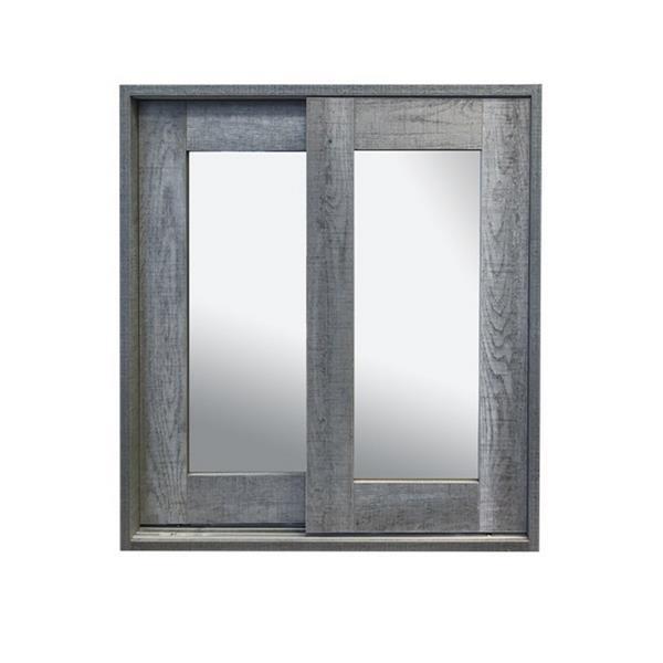 Luxo Marbre Relax Mirror Medicine Cabinet - 24-in x 25.25-in - Blue/Grey