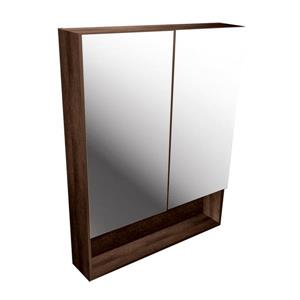 Luxo Marbre Smally Mirror Medicine Cabinet - 27.5-in x 35.5-in - Coffee