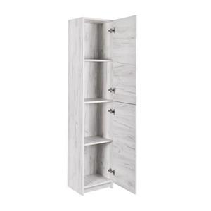"""Armoire latérale de salle de bain, 15,75"""" x 74,75"""", blanc"""