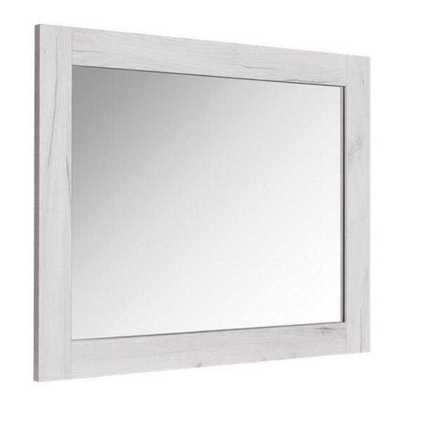 Luxo Marbre Eco Bathroom Mirror - 35.5-in x  29.5-in - Old White