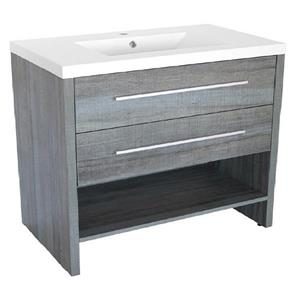 Luxo Marbre Relax Bathroom Vanity - 36.25-in - Blue Gray