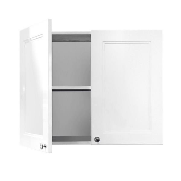 Luxo Marbre Washer/Dryer Classic Cabinet - 29.6-in x 23.6-in - Lacquered White
