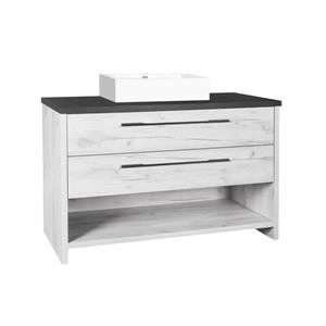 Luxo Marbre Bold Bathroom Vanity - 48-in-Old White Wood Veneer