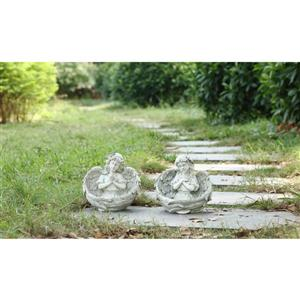 Hi-Line Gift Angels Praying Statues - Set of 2 - Multicoloured