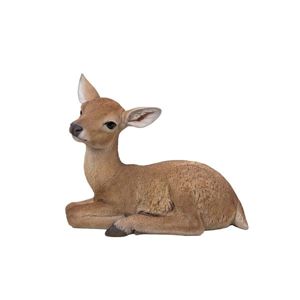 Hi-Line Gift Deer Lying Down Statue - Multicoloured