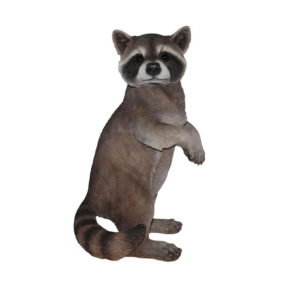 Hi-Line Gift Standing Raccoon Statue - Multicoloured