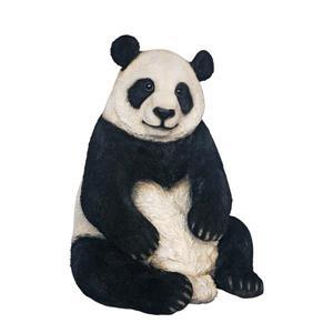 Statue de panda extra-grand assis, multicolore
