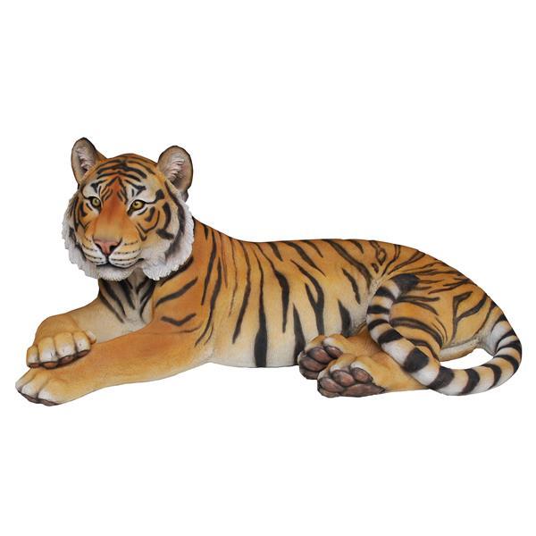 Statue de tigre couché, multicolore