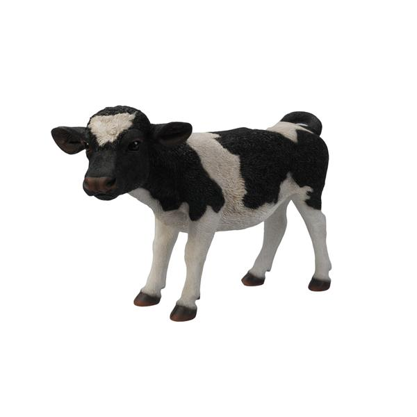 Hi-Line Gift Standing Cow Statue - Multicoloured