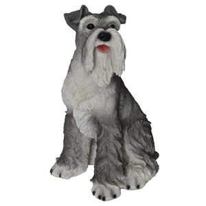 Hi-Line Gift Sitting Schnauzer Statue - Multicoloured