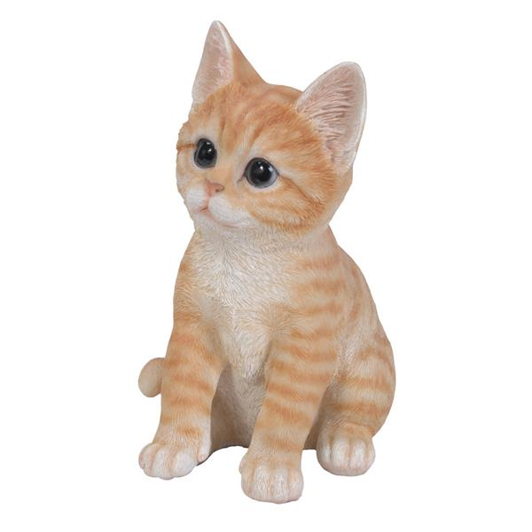 Hi-Line Gift Sitting Kitten Statue - Multicoloured
