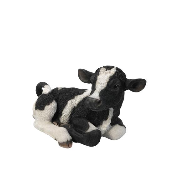 Hi-Line Gift Cow Laying Down Statue - Multicoloured