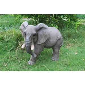 Statue d'éléphant qui marche, multicolore