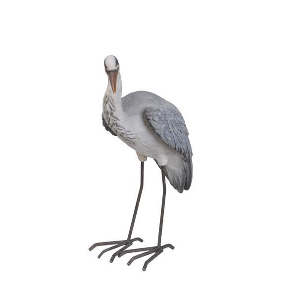 Hi-Line Gift Heron Statue - Multicoloured