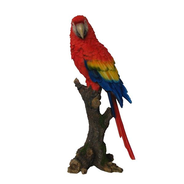 Hi-Line Gift Parrot on Branch Statue - Multicoloured