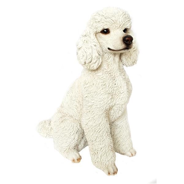 Hi-Line Gift White Poodle Sitting Statue