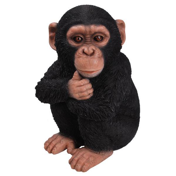 Hi-Line Gift Sitting Baby Monkey Statue - Multicoloured