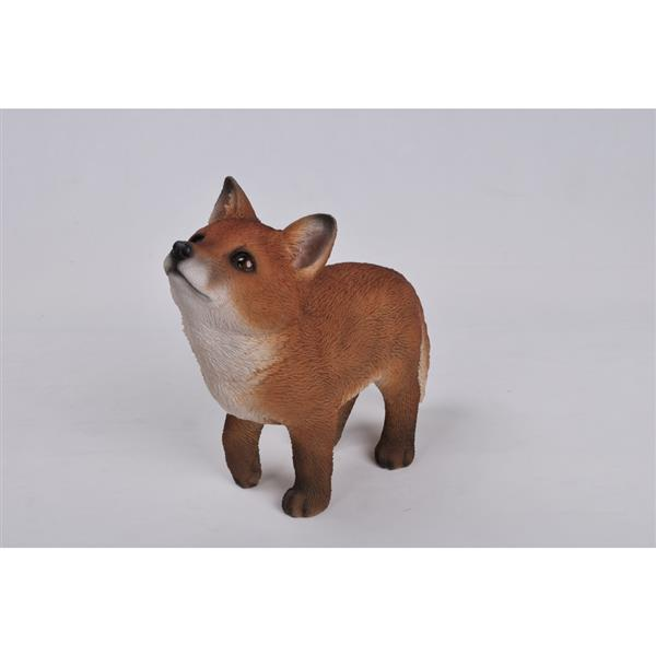 Hi-Line Gift Fox Pup Looking UP Statue - Multicoloured