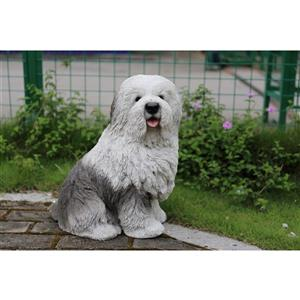 Hi-Line Gift Old English Sheepdog Statue - Multicoloured