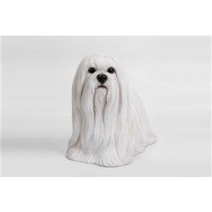 Hi-Line Gift Maltese Statue - Multicoloured