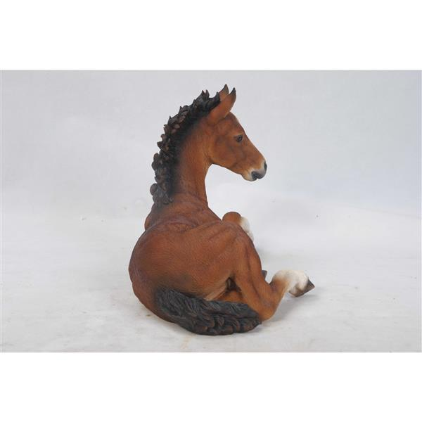Hi-Line Gift Horse Colt Laying Down Statue - Multicoloured