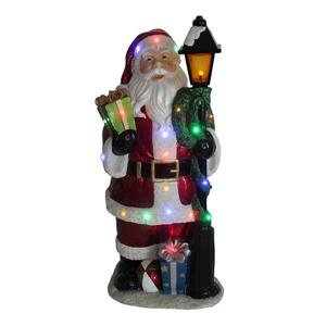 Hi-Line Gift Santa Claus Lamp Post with 22 LED Lights