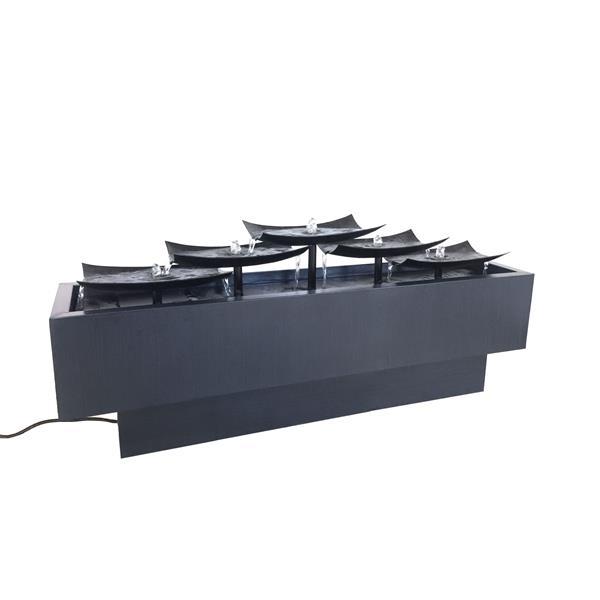Hi-line Gift Ltd. Hi-Line Gift Multi-Level Metal Plates Outdoor Fountain - Multicoloured 79540