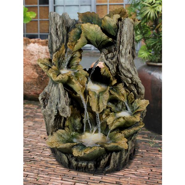 Hi-line Gift Ltd. Hi-Line Gift Outdoor Tree Fountain with LED Lights - Multicoloured 79521