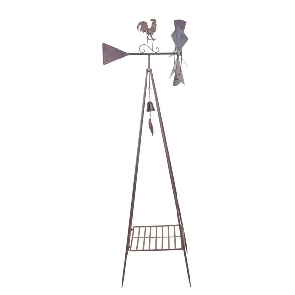 Hi-Line Gift Metal Weather Vane with Shelf - Black