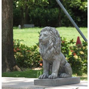 Statue de Lion assis, multicolore