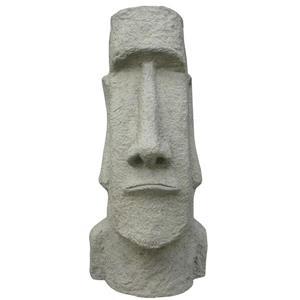 Statue d'île de Paques tête de Moai, multicolore