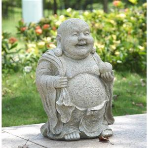 Statue de Buddha tenant une balle, multicolore