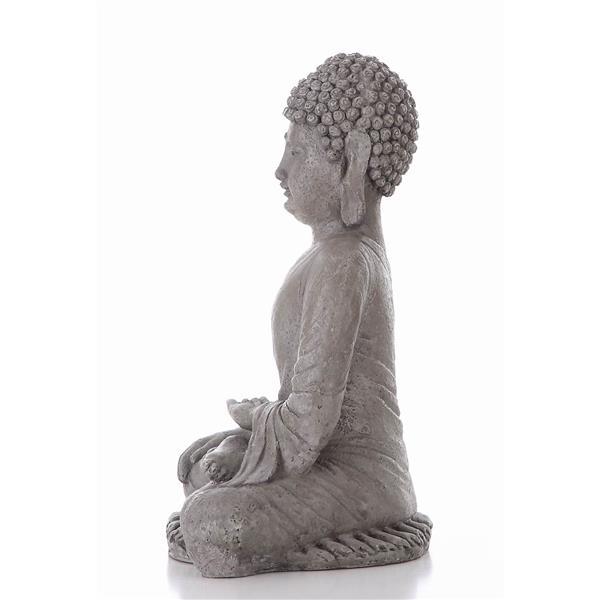 Hi-Line Gift Sitting Buddha Statue - Multicoloured