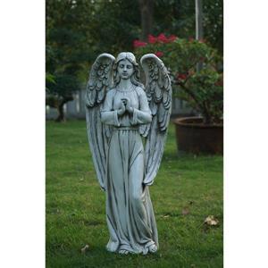Statue de ange debout, multicolore