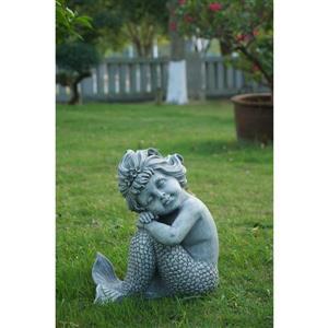 Statue de sirène assis, multicolore