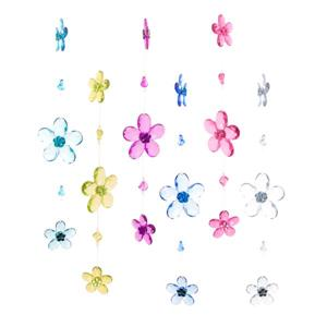 Hi-Line Gift Acrylic Flower Suncatchers - Multicoloured