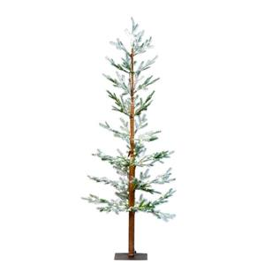 "Hi-Line Gift Pine Snow Tree with 200 LED Lights - 71"" - Warm White"